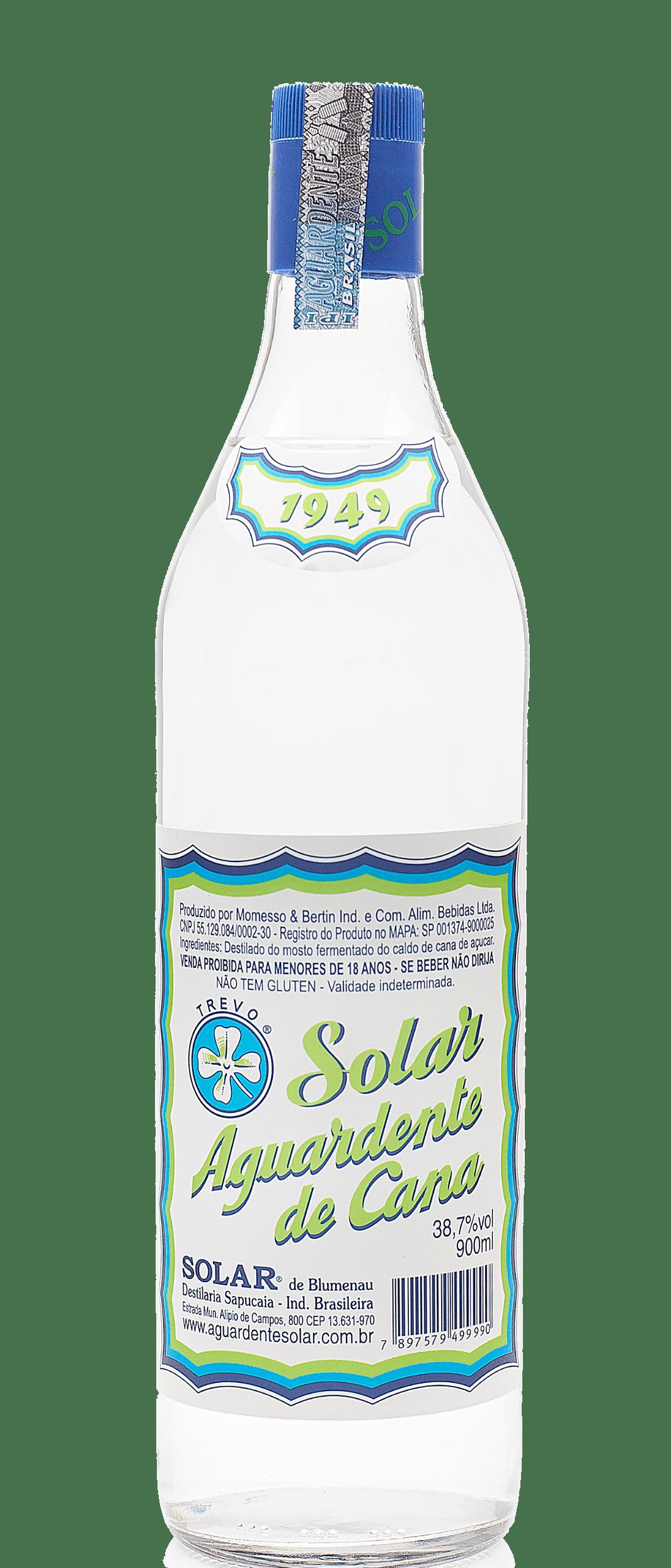 Aguardente de Cana Solar 900 ml