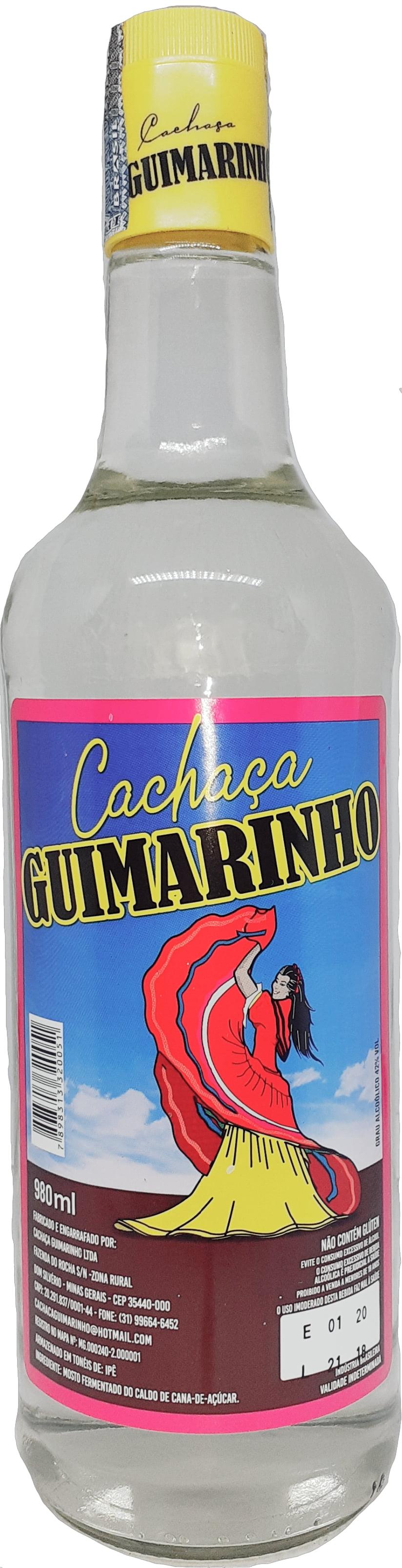 Cachaça Guimarinho Prata 980 ml