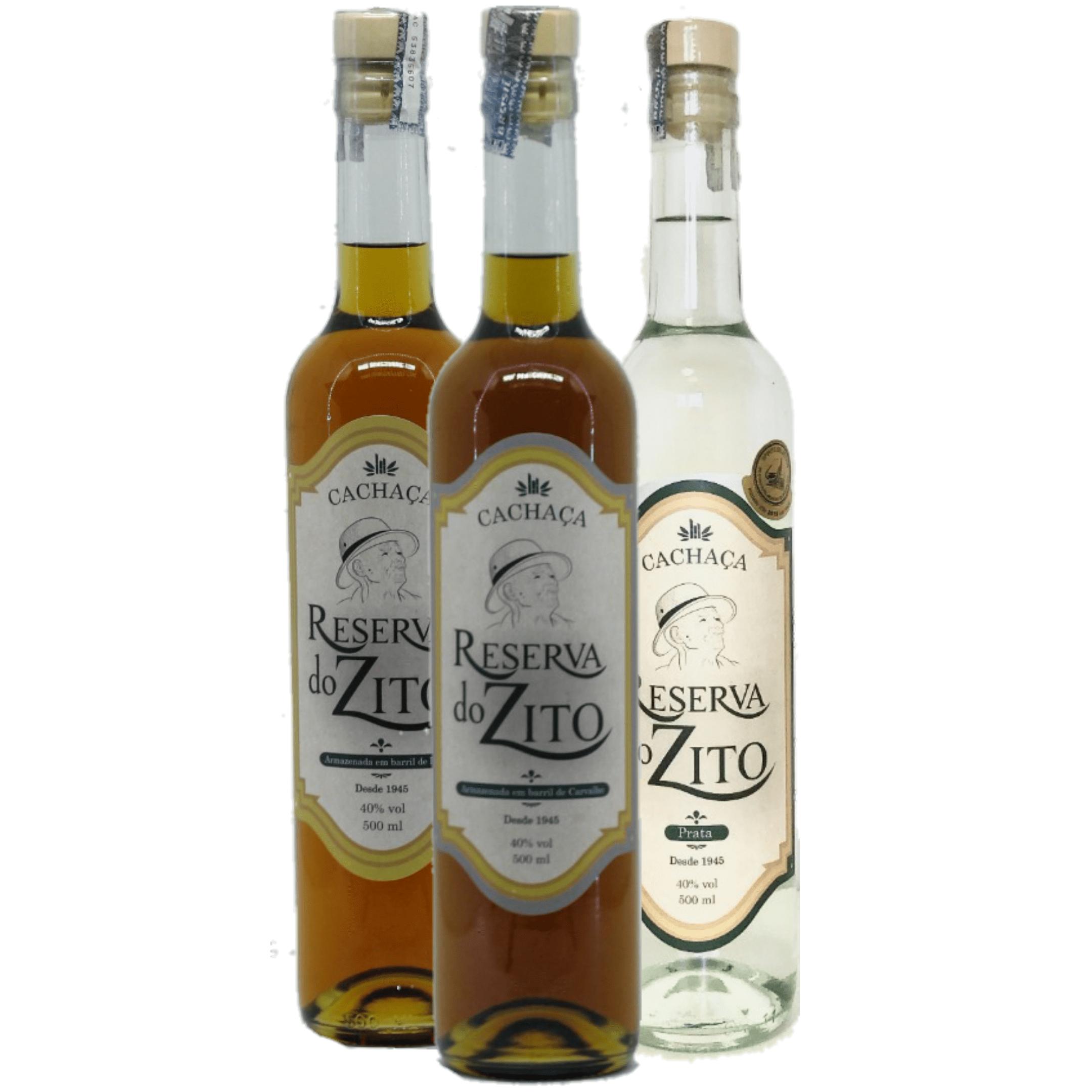 Kit Cachaça Reserva do Zito - Prata/Ipê e Carvalho - 500 ml