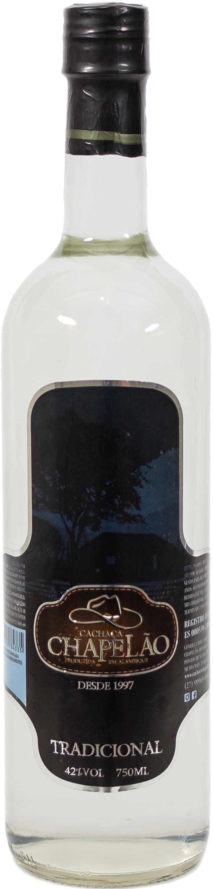 Cachaça Chapelão Prata - Inox 750 ml