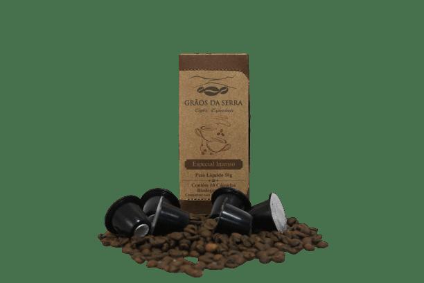 Café Grãos da Serra em Cápsulas Tipo Especial Intenso