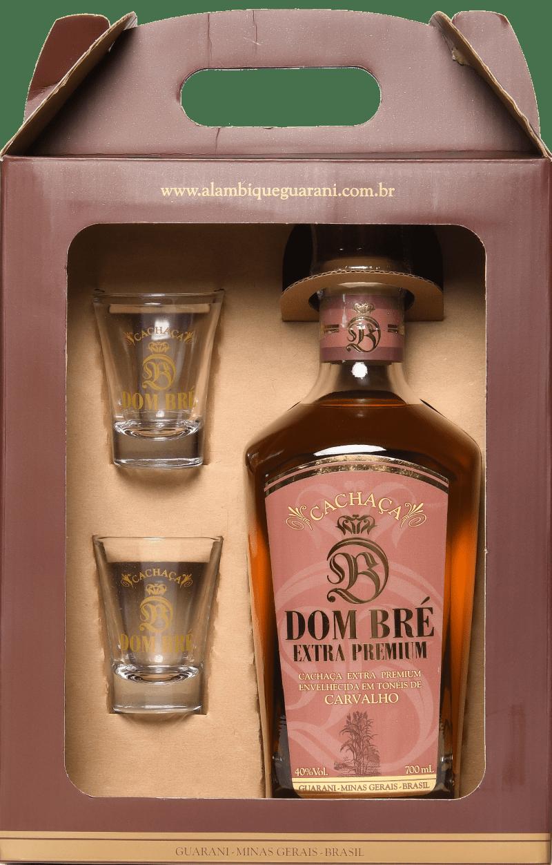 kit Dom Bré 700 ml + 2 copos shot personalizados