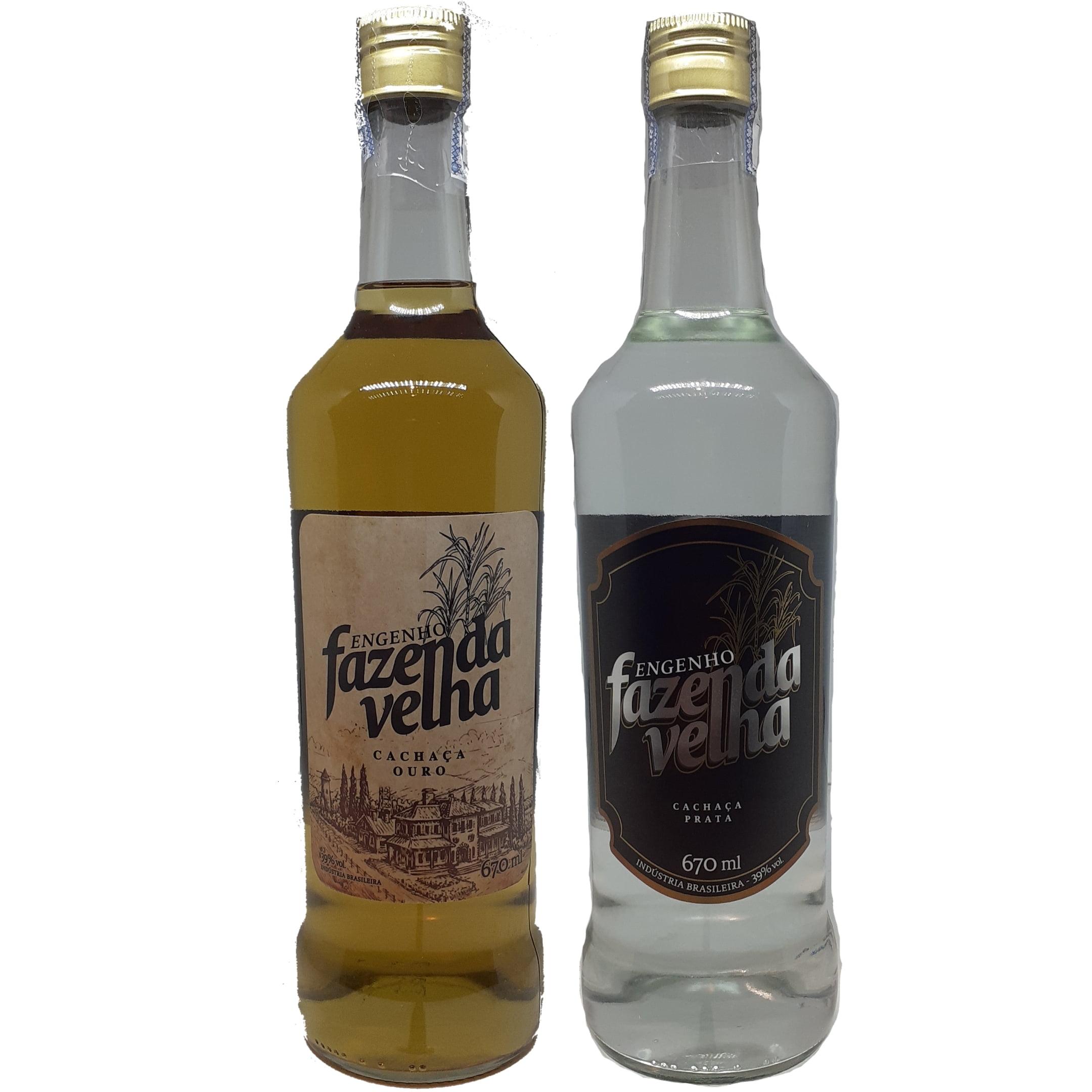 Kit Cachaça Engenho Fazenda Velha 670 ml cada.