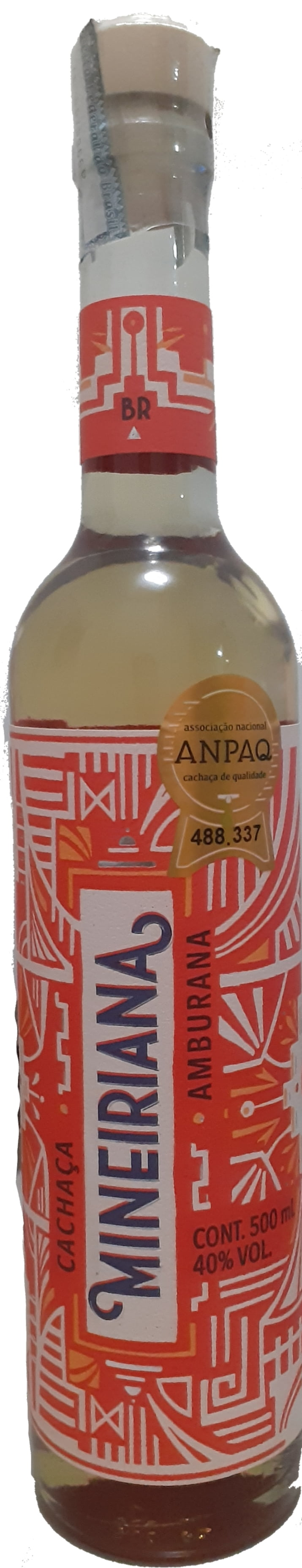 Cachaça Mineiriana Amburana 500 ml