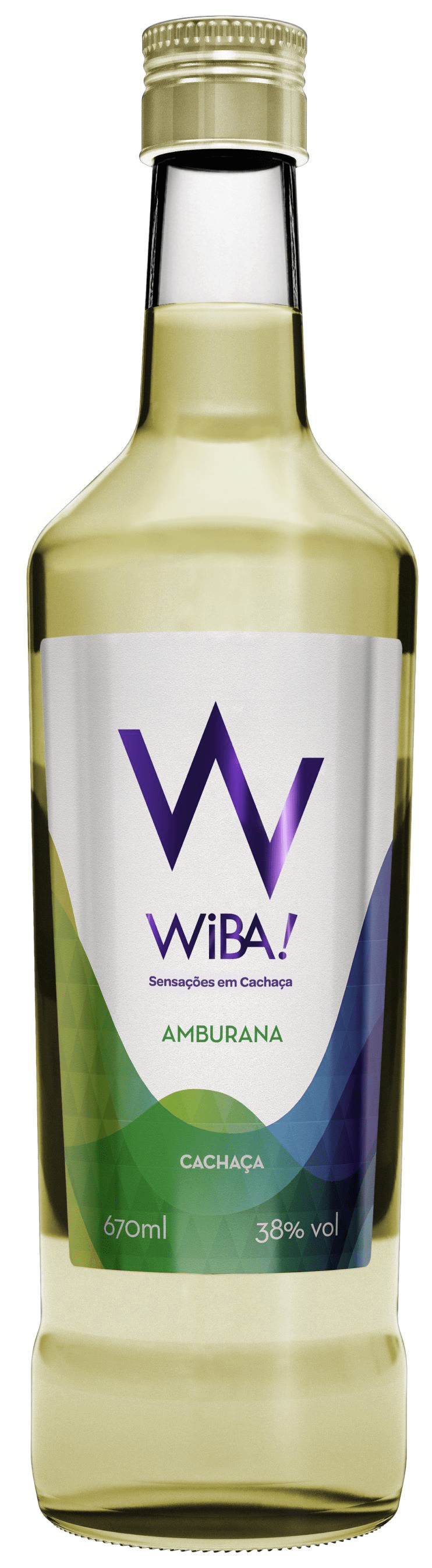 Cachaça WIBA Amburana Ouro  670 ml