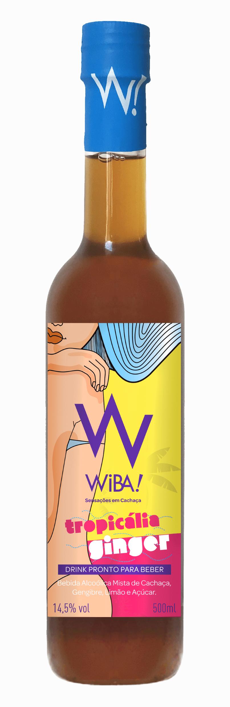 Cachaça WIBA Tropicália Ginger 500 ml