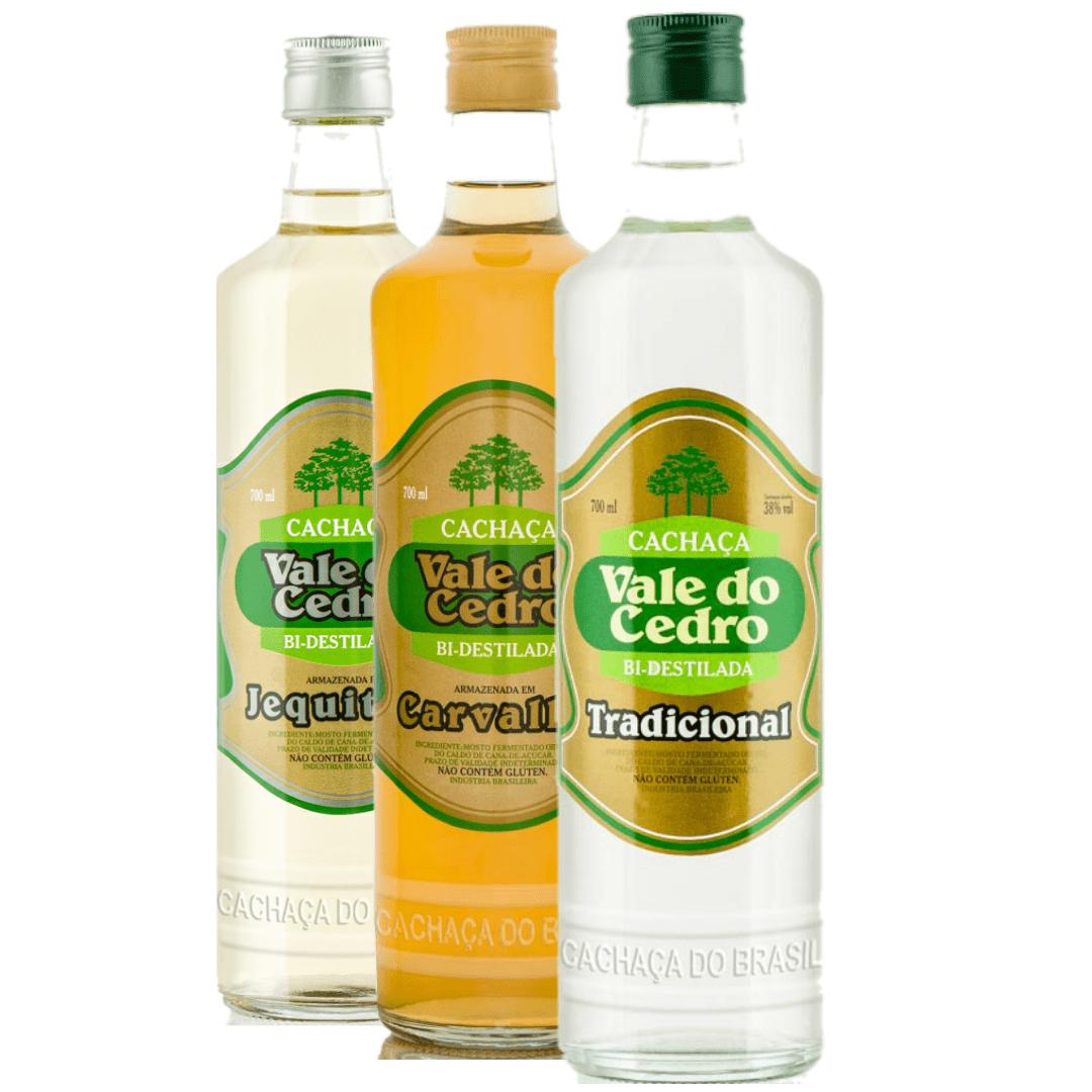 Kit Cachaça 3 em 1 com garrafas de 700 ML