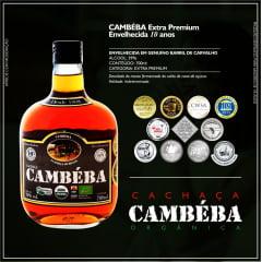 Cachaça Cambéba Extra Premium - 10 anos - 700ml - kit - 2 unidades