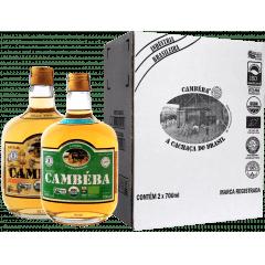 Cachaça Cambéba Ouro e Premium 3 anos  - 700ml - Kit