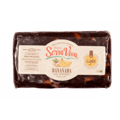 Bananada com Amendoim Light 400g Serra Viva
