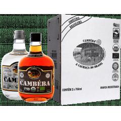Cachaça Cambéba Prata e Extra Premium 10 anos - 700ml - KIt