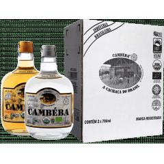 Cachaça Cambéba Prata e Ouro - 700ml  - kit