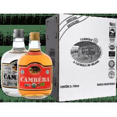 Cachaça Cambéba Prata e Extra Premium 5 anos - 700ml - kit