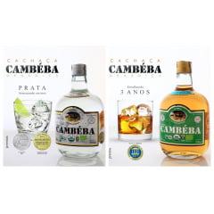 Cachaça Cambéba Prata e Premium 3 anos 700ml - Kit  | Empório Cachaça Canela-de-Ema