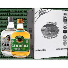 Cachaça Cambéba Prata e Premium 3 anos 700ml - Kit