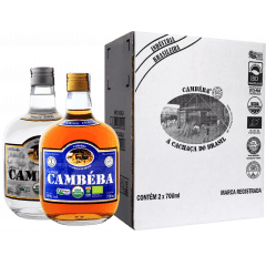 Cachaça Cambéba Prata e Extra Premium 7 anos 700ml - Kit
