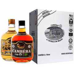 Cachaça Cambéba Ouro e Extra Premium 10 anos - 700ml - Kit