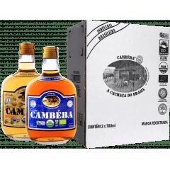 Cachaça Cambéba Ouro e Extra Premium 7 anos - 700ml - Kit