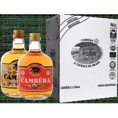 Cachaça Cambéba Ouro e Extra Premium 5 anos 700ml - Kit