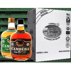 Cachaça Cambéba Premium 3 anos e Extra Premium 10 anos - 700ml - Kit