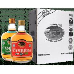 Cachaça Cambéba Premium  3 anos e Extra Premium 5 anos - 700ml - Kit