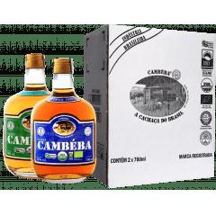 Cachaça Cambéba Premium 3 anos e Extra Premium 7 anos - 700ml - Kit | Empório Cachaça Canela-de-Ema