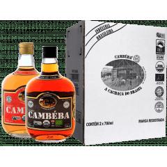 Cachaça Cambéba Extra Premium 5 e 10 anos 700ml - Kit