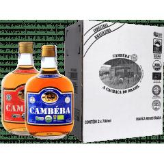 Cachaça Cambéba Extra Premium 5  e 7 anos - 700ml - Kit | Empório Cachaça Canela-de-Ema