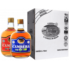 Cachaça Cambéba Extra Premium 5  e 7 anos - 700ml - Kit