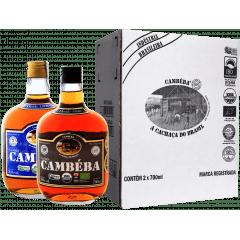 Cachaça Cambéba Extra Premium 7 e 10 anos - 700ml - Kit